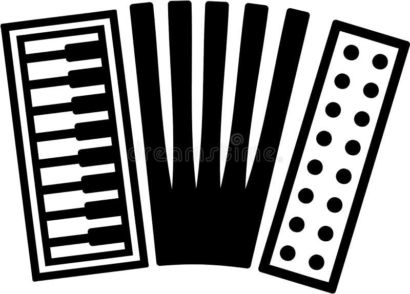 Ícone do acordeão ilustração stock