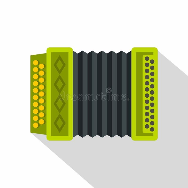 Ícone do acordeão, estilo liso ilustração stock