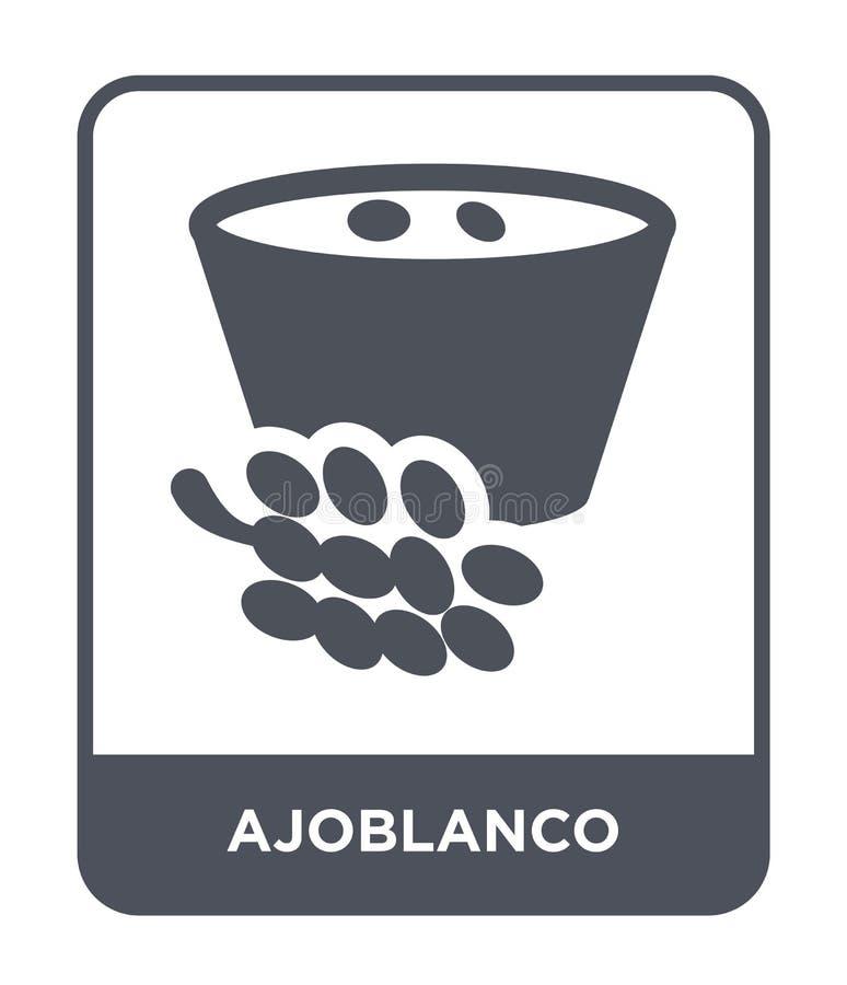 ícone do ajoblanco no estilo na moda do projeto ícone do ajoblanco isolado no fundo branco plano simples e moderno do ícone do ve ilustração stock