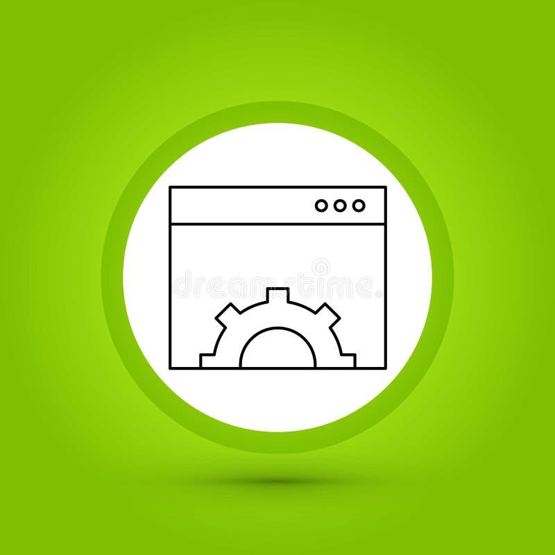 Ícone do ajuste de navegador do vetor no projeto criativo com elementos para ilustração royalty free