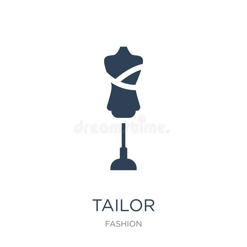 ícone do alfaiate no estilo na moda do projeto ícone do alfaiate isolado no fundo branco símbolo liso simples e moderno do ícone  ilustração royalty free