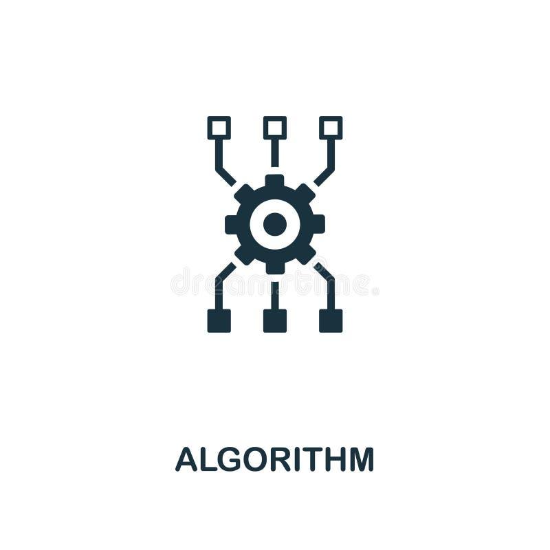 ícone do algoritmo Projeto superior do estilo da coleção do ícone da inteligência artificial UI e UX Ícone perfeito do algoritmo  ilustração do vetor