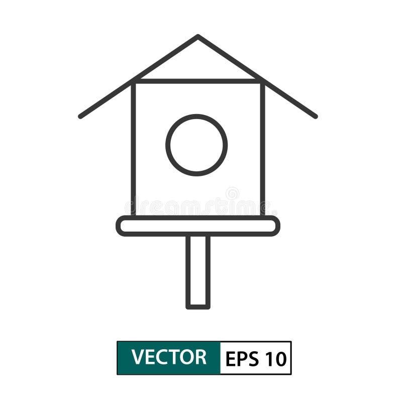 Ícone do alimentador da casa do pássaro Estilo do esbo?o Ilustra??o Eps 10 do vetor ilustração do vetor