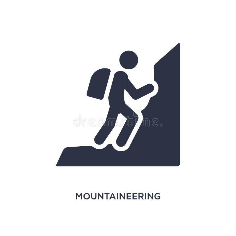 ícone do alpinismo no fundo branco Ilustração simples do elemento do conceito das atividades ilustração royalty free