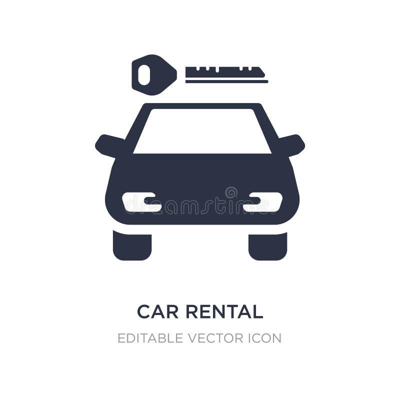 ícone do aluguer de carros no fundo branco Ilustração simples do elemento do conceito dos sinais ilustração do vetor