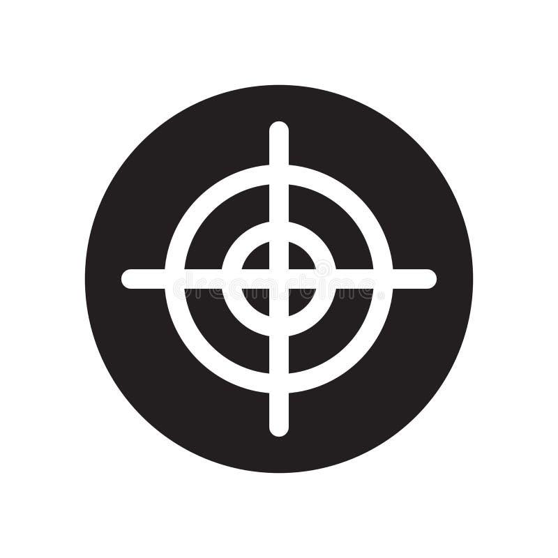 Ícone do alvo da arma  ilustração royalty free