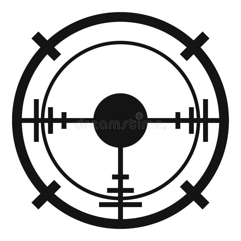 Ícone do alvo da elite do atirador furtivo, estilo simples ilustração stock