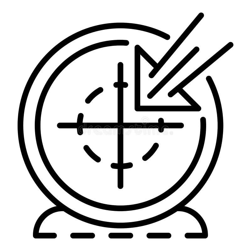 Ícone do alvo de Vlog, estilo do esboço ilustração do vetor