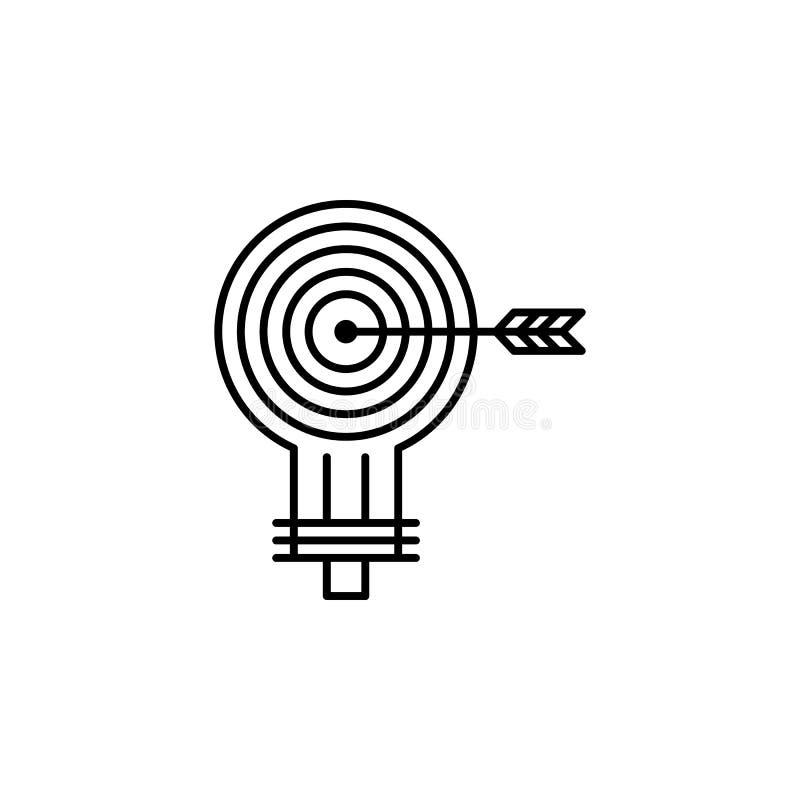 Ícone do alvo Elemento do ícone popular da finança Projeto gráfico da qualidade superior Sinais, ícone para Web site, desi da col fotos de stock
