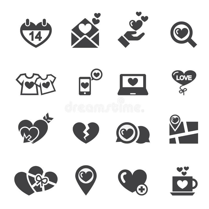 ícone do amor ilustração do vetor