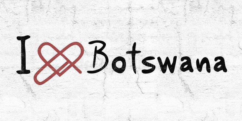 Ícone do amor de Botswana ilustração stock