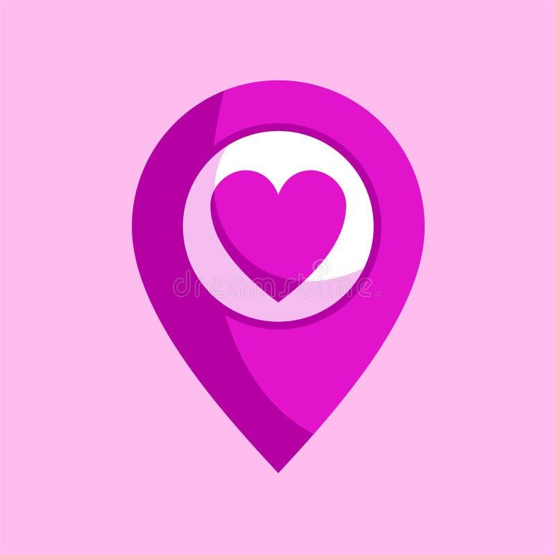 Download Ícone do amor do coração ilustração do vetor. Ilustração de ícone - 80101064