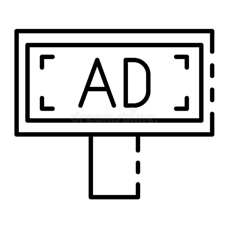 Ícone do anúncio do quadro de avisos, estilo do esboço ilustração royalty free