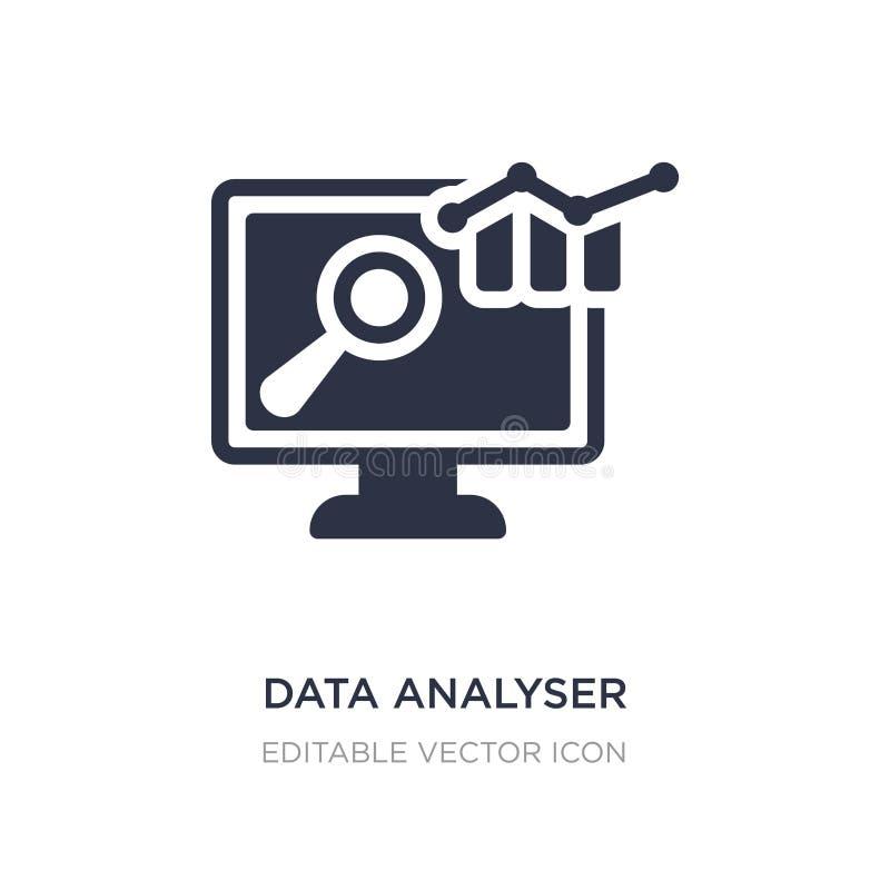 ícone do analisador dos dados no fundo branco Ilustração simples do elemento do conceito do computador ilustração stock