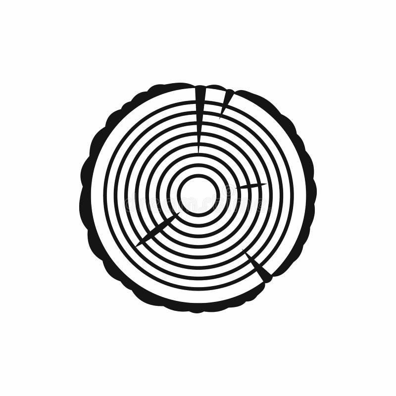 Ícone do anel de árvore no estilo simples ilustração royalty free