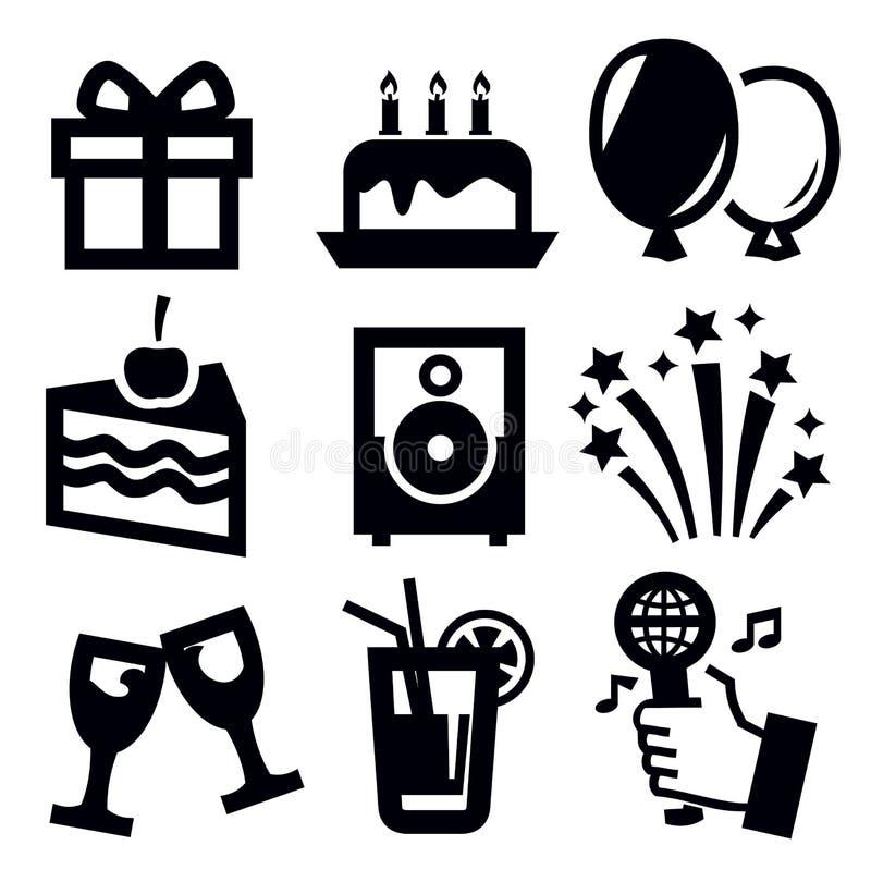 Ícone do aniversário ilustração royalty free