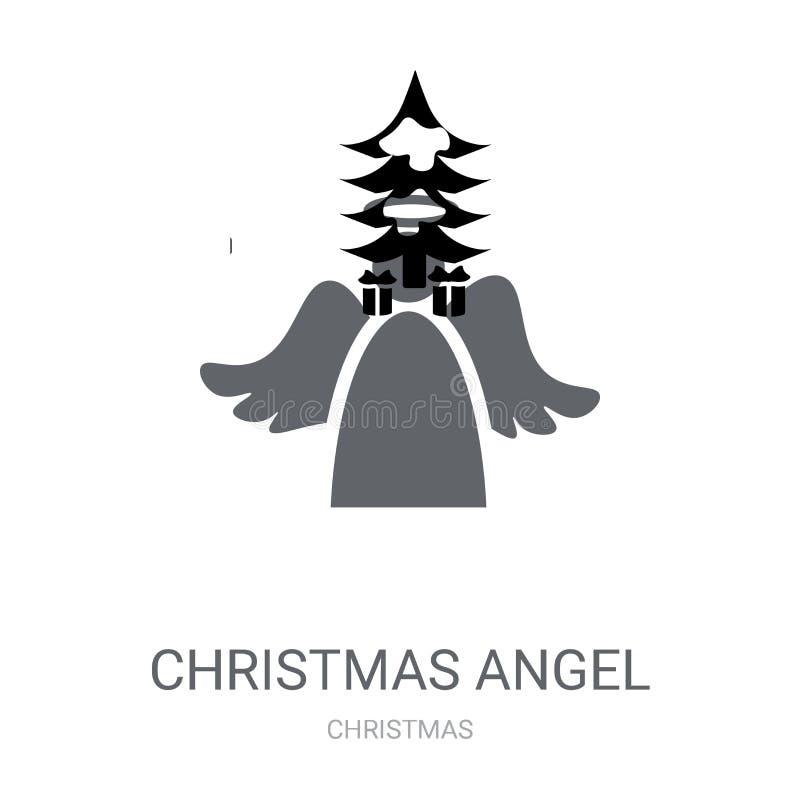 Ícone do anjo do Natal  ilustração royalty free