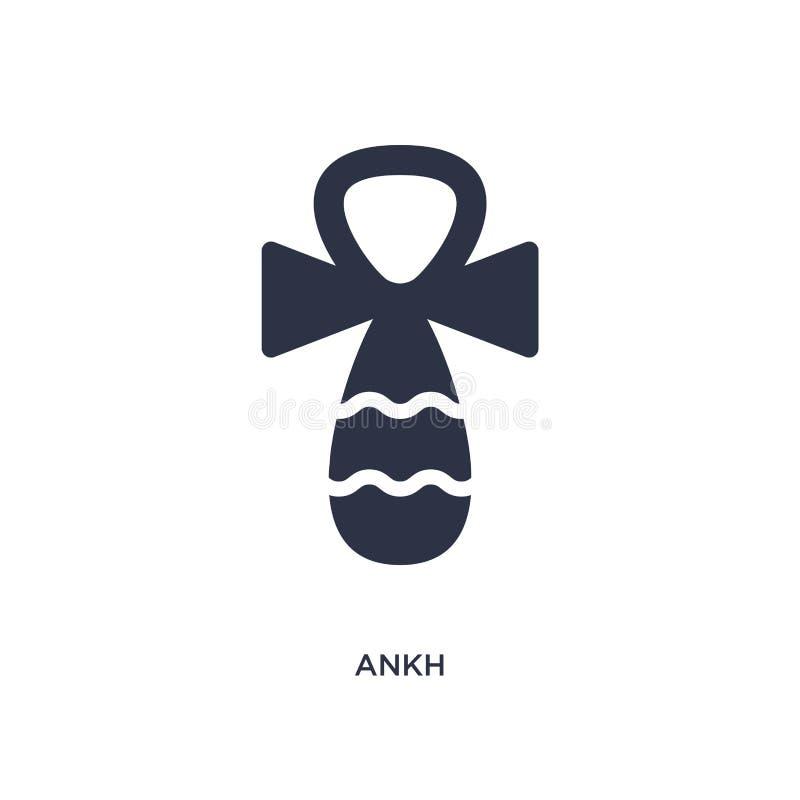 ícone do ankh no fundo branco Ilustração simples do elemento do conceito de África ilustração stock