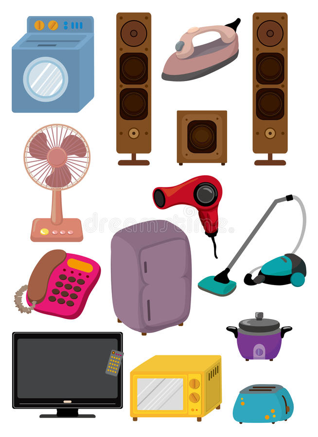 Ícone do aparelho electrodoméstico dos desenhos animados ilustração stock