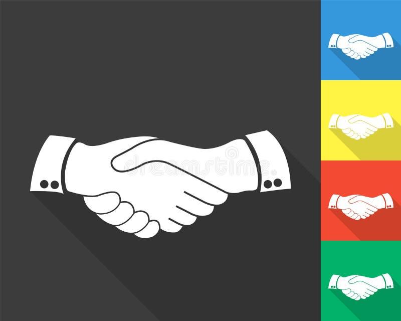 Ícone do aperto de mão - grupo colorido imagem de stock