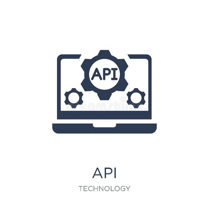 Ícone do Api Ícone liso na moda do API do vetor no fundo branco de T ilustração stock