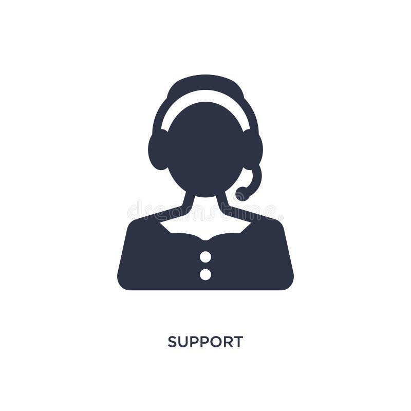 ícone do apoio no fundo branco Ilustração simples do elemento do conceito do serviço ao cliente ilustração stock