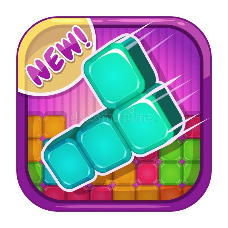 Ícone do App com blocos coloridos ilustração royalty free