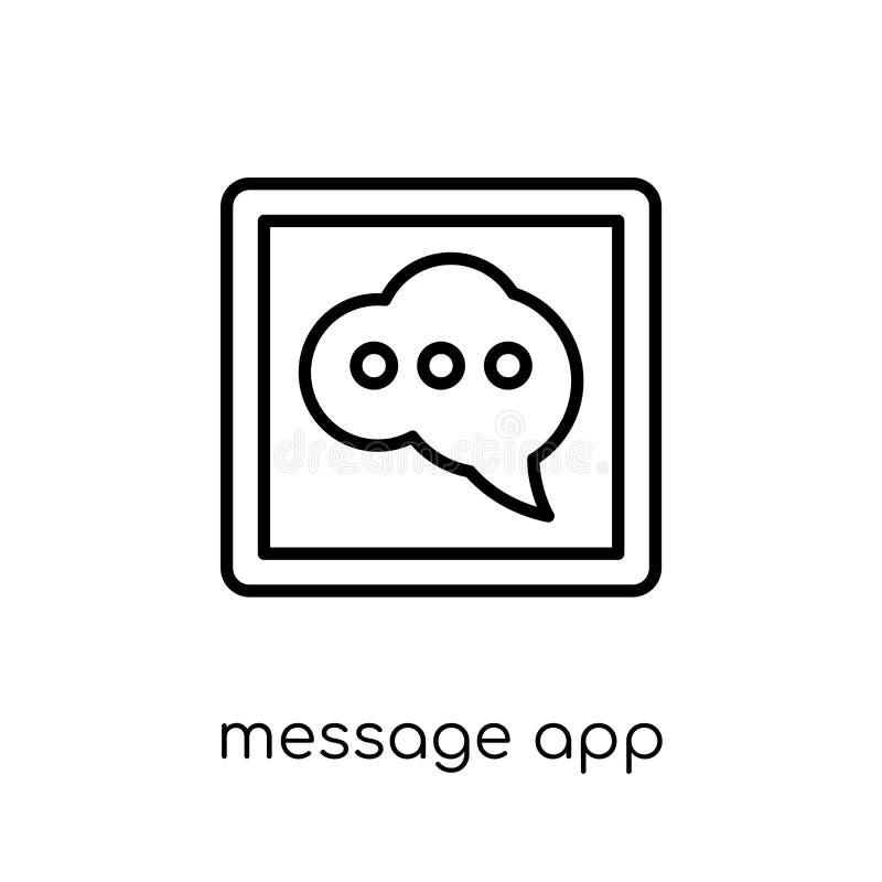 ícone do app da mensagem App linear liso moderno na moda i da mensagem do vetor ilustração do vetor