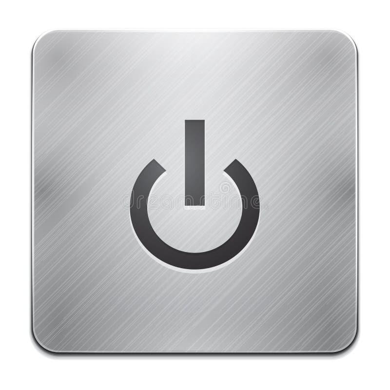 Ícone do app da potência ilustração stock