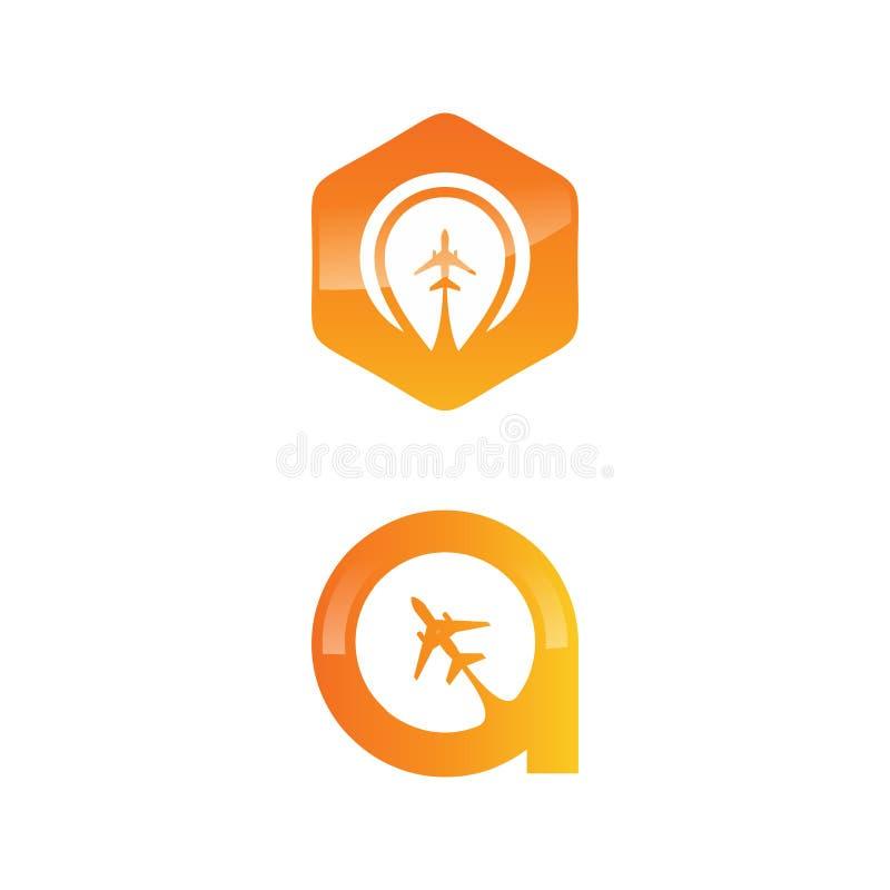 Ícone do app do logotipo do curso com plano ilustração stock