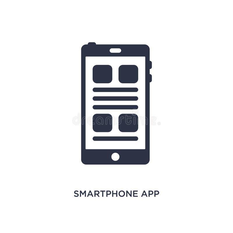 ícone do app do smartphone no fundo branco Ilustração simples do elemento do conceito da educação ilustração do vetor