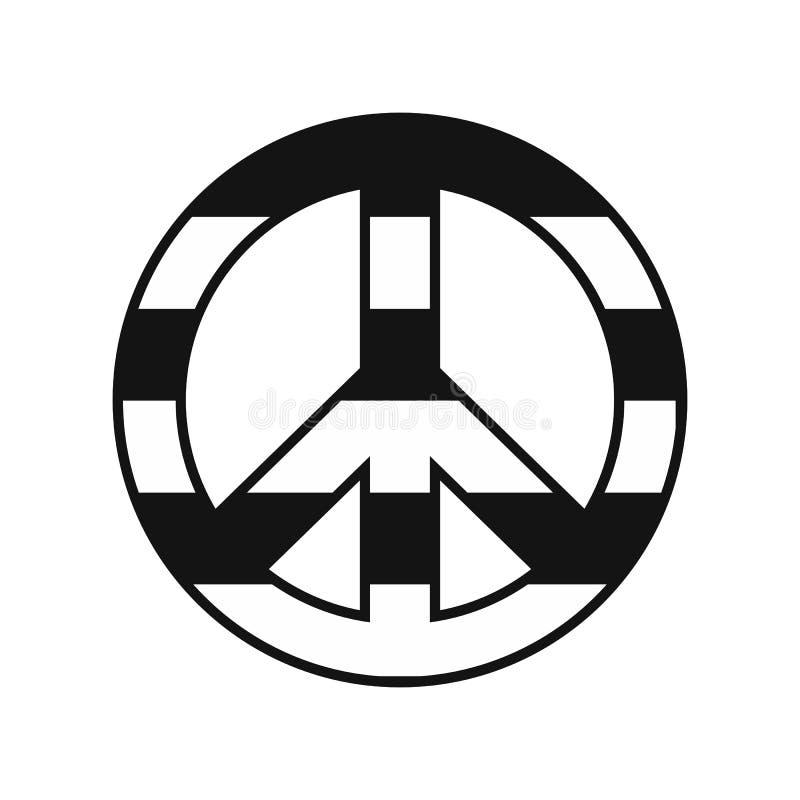 Ícone do arco-íris do símbolo de paz ilustração royalty free