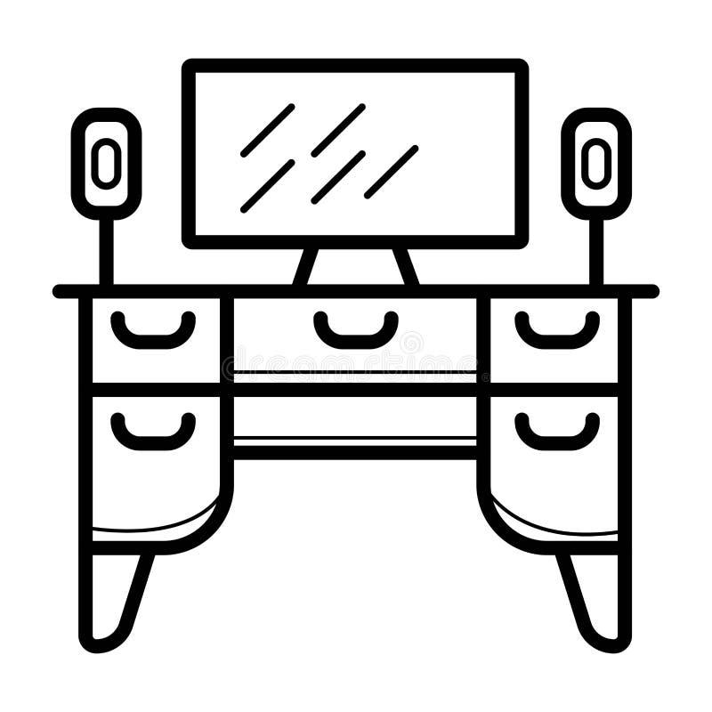 Ícone do armário da tevê ilustração royalty free