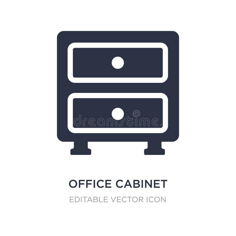 ícone do armário do escritório no fundo branco Ilustração simples do elemento do conceito geral ilustração do vetor
