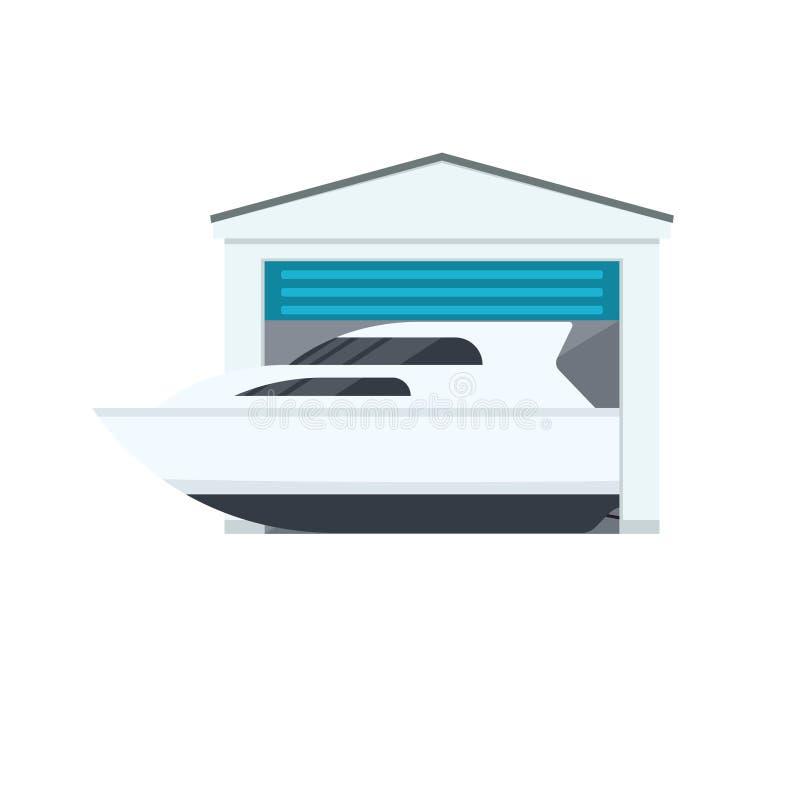 Ícone do armazenamento do barco ilustração royalty free