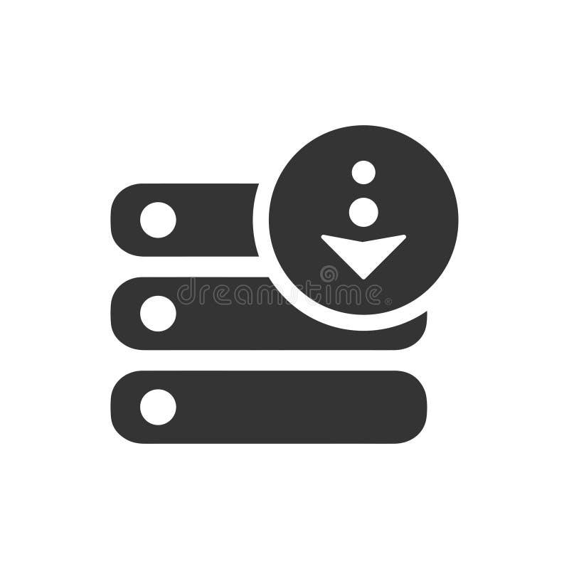 Ícone do armazenamento do base de dados ilustração stock