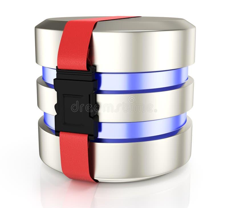 Ícone do armazenamento da base de dados ilustração do vetor