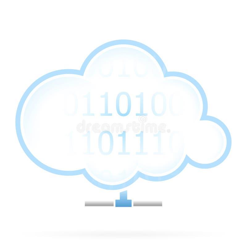 Ícone do armazenamento da nuvem ilustração do vetor