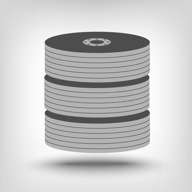 Ícone do armazenamento do base de dados ilustração do vetor