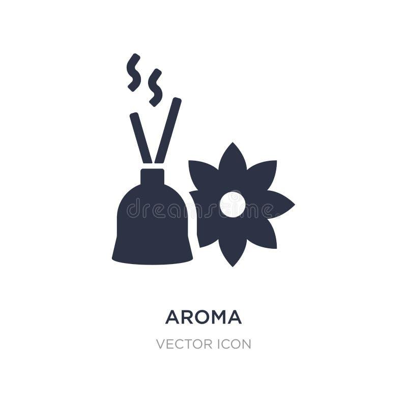 ícone do aroma no fundo branco Ilustração simples do elemento do conceito da beleza ilustração stock