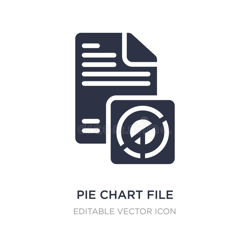 ícone do arquivo da carta de torta no fundo branco Ilustração simples do elemento do conceito do negócio ilustração do vetor