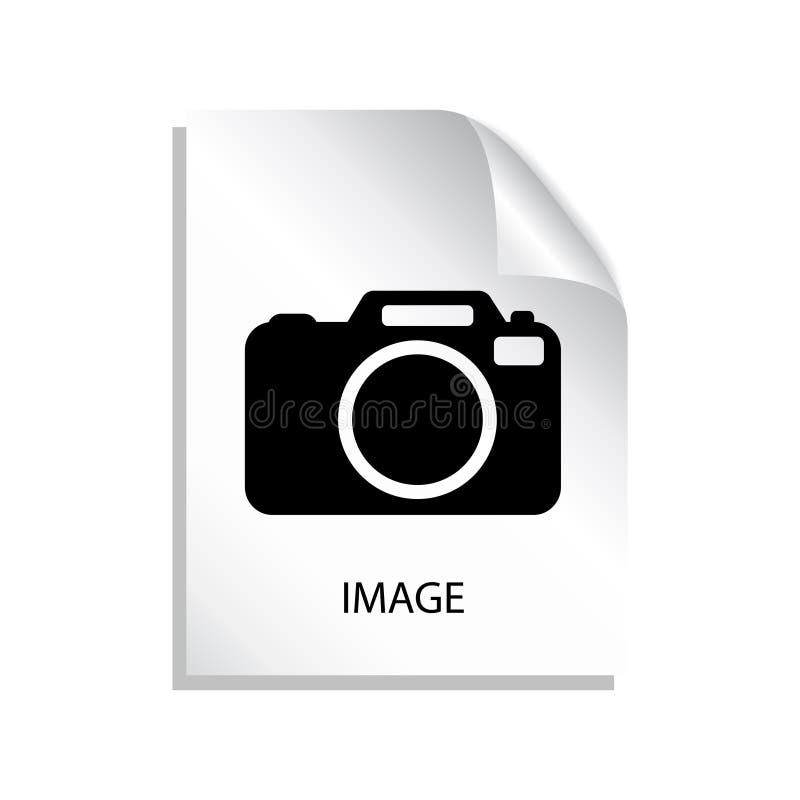 Ícone do arquivo de imagem ilustração do vetor