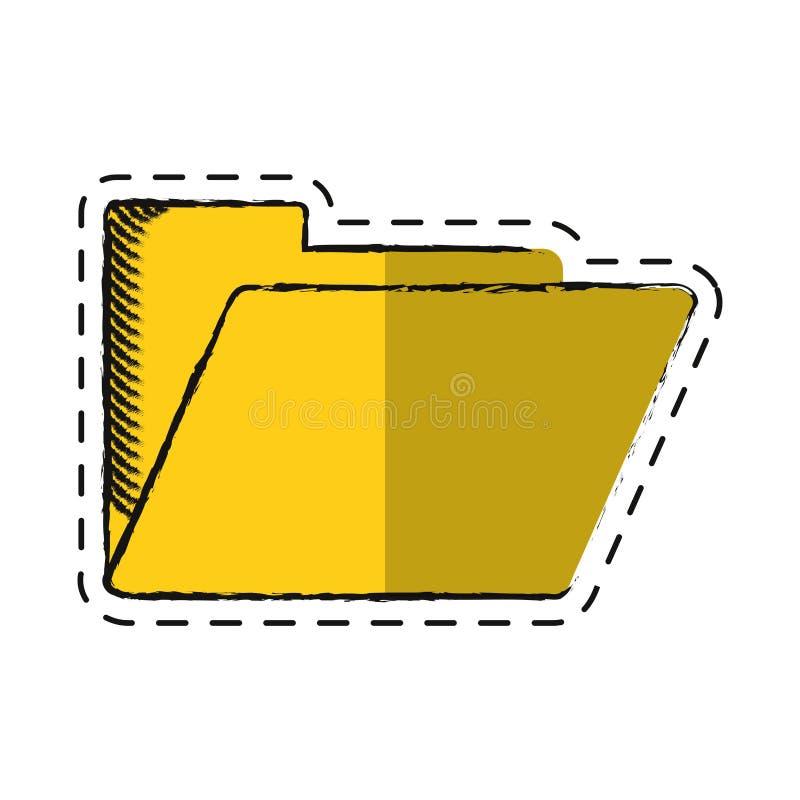 Ícone do arquivo de original do arquivo do dobrador dos desenhos animados ilustração do vetor