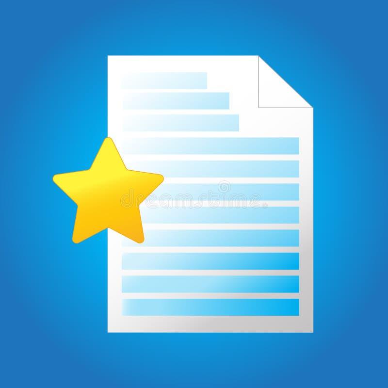 Ícone do arquivo de texto da letra - símbolo do página da web - escritório do formato de arquivo documento de texto que é marcado ilustração do vetor