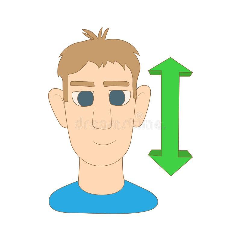 Ícone do assentimento do homem, estilo dos desenhos animados ilustração do vetor