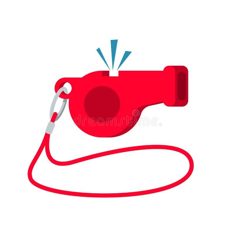 Ícone do assobio Equipamento de esporte Árbitro Whistle ilustração stock