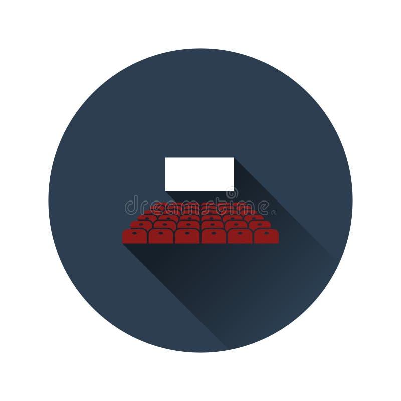 Ícone do auditório do cinema ilustração royalty free