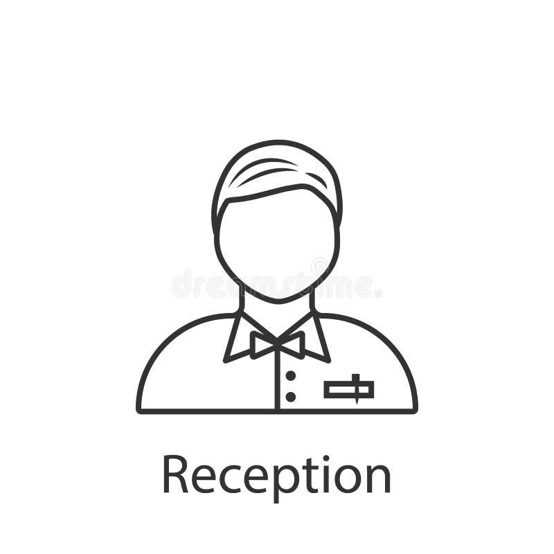 Ícone do auxílio da recepção Elemento do ícone do avatar da profissão para apps móveis do conceito e da Web Ícone detalhado do au ilustração royalty free
