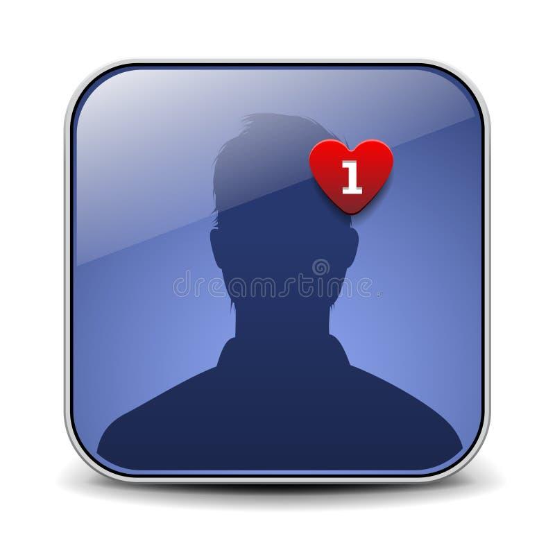 Ícone do avatar do usuário ilustração royalty free