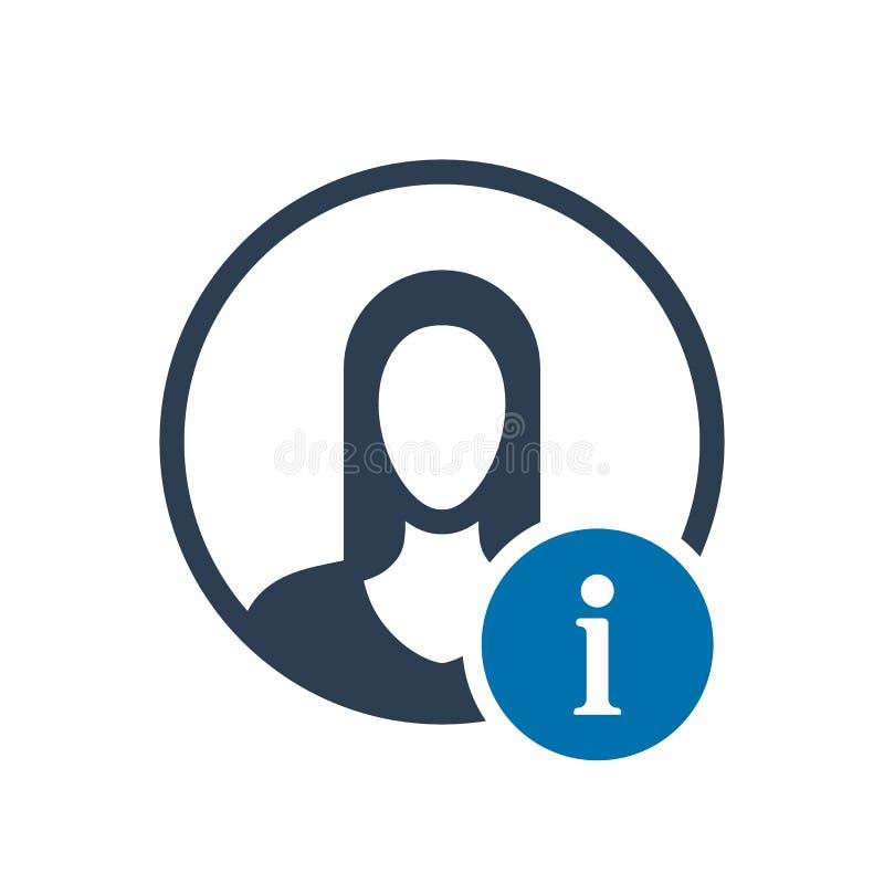 Ícone do Avatar, ícone dos povos com sinal da informação Ícone do Avatar e aproximadamente, FAQ, ajuda, símbolo da sugestão ilustração do vetor